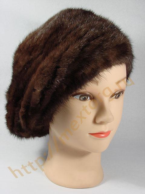 Описание: вязание крючком шапки с мехом норки.